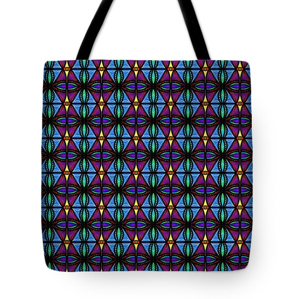 Tote Bag featuring the digital art Purple And Blue Diamonds by Becky Herrera
