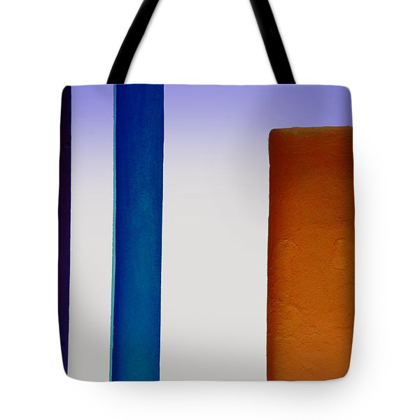 Purple And Blue Lines Tote Bag
