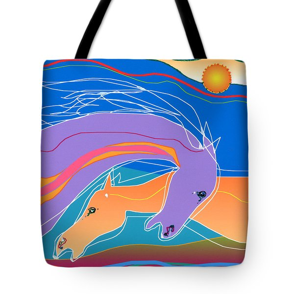 Purple And Gold Tote Bag by Mary Armstrong