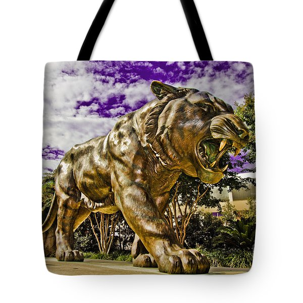 Purple And Gold Tote Bag