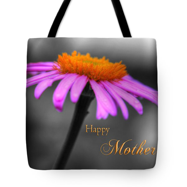 Tote Bag featuring the photograph Purple And Orange Coneflower Happy Mothers Day by Shelley Neff