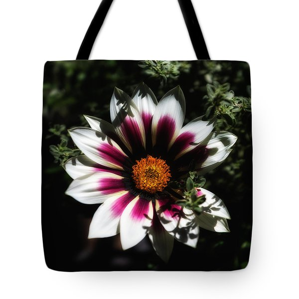 Purple And Orange Glow Tote Bag by Ron White