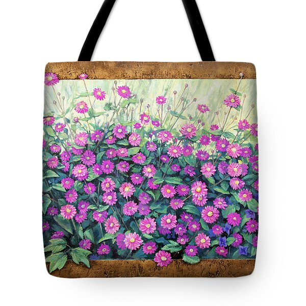 Purple And Pink Flowers Tote Bag
