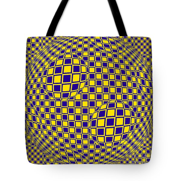 Purple And Yellow Sphere Untitled Tote Bag