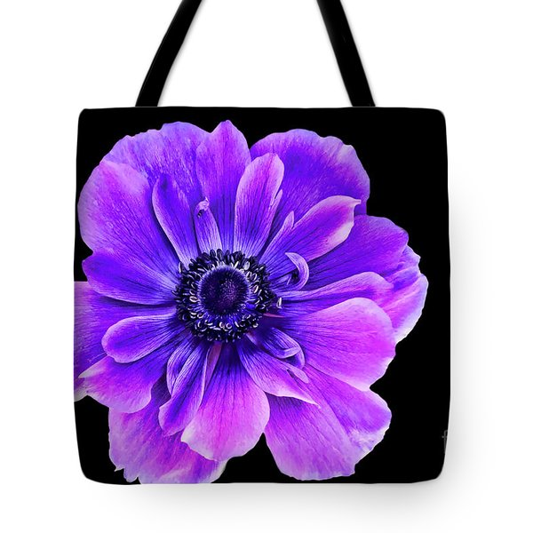 Purple Anemone Flower Tote Bag