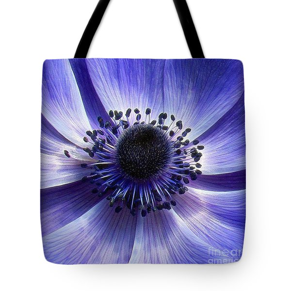 Purple Anemone Macro Tote Bag