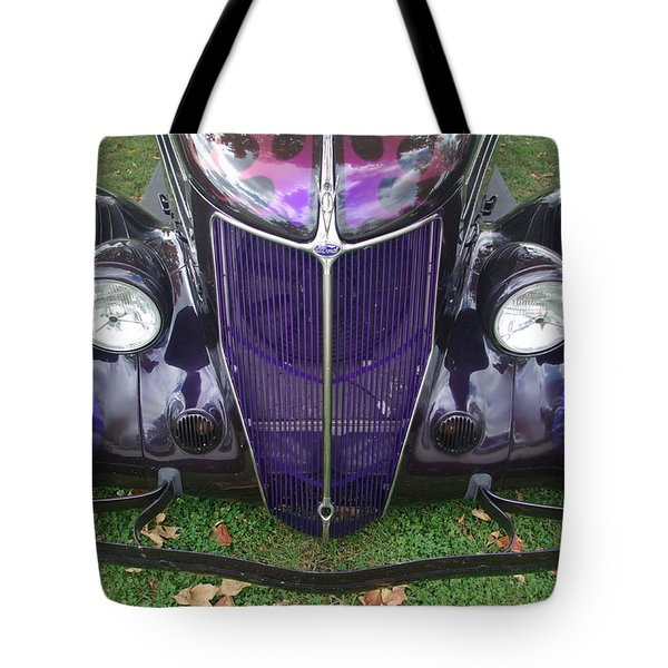 Purple Antique Ford Tote Bag by Kathy M Krause