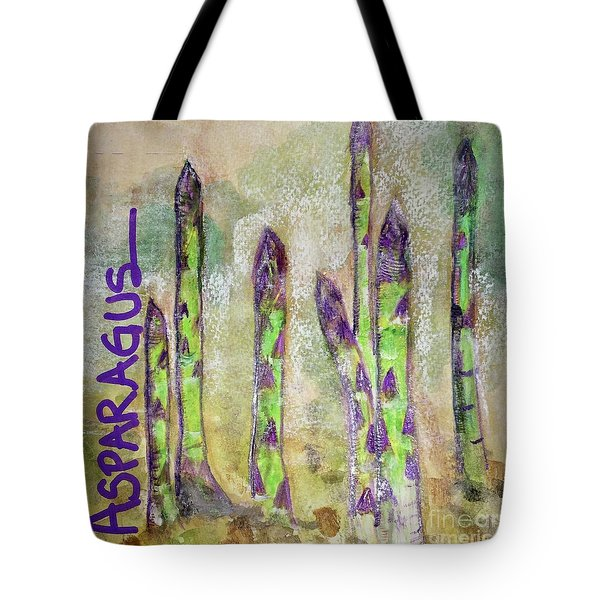 Tote Bag featuring the painting Purple Asparagus by Kim Nelson