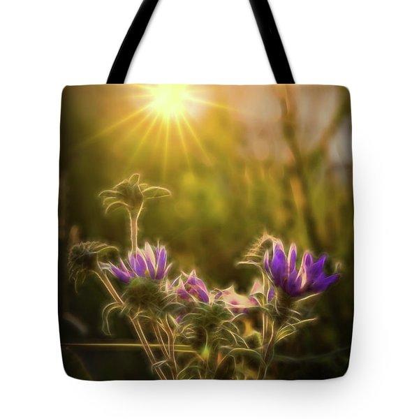 Purple Aster Glow Tote Bag