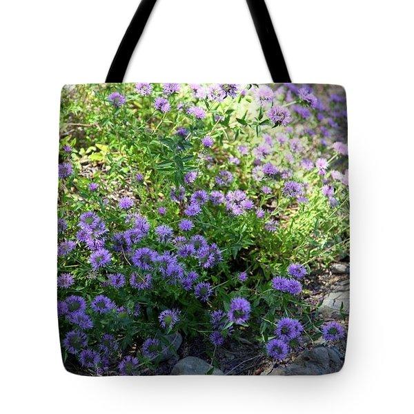 Purple Bachelor Button Flower Tote Bag