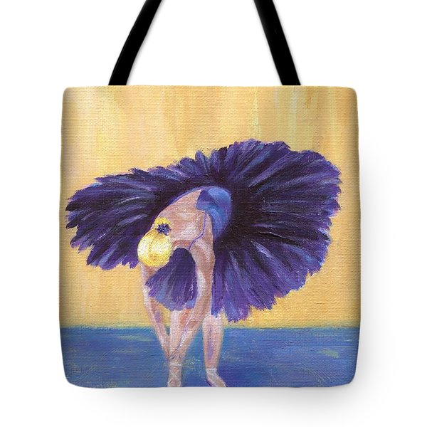 Tote Bag featuring the painting Purple Ballerina by Jamie Frier