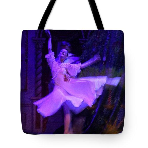 Purple Ballet Dancer Tote Bag