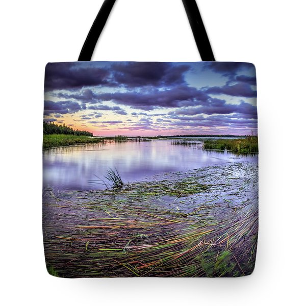 Purple Bay Tote Bag