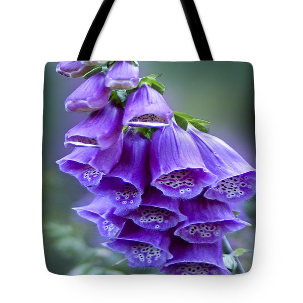 Purple Bell Flowers Foxglove Flowering Stalk Tote Bag