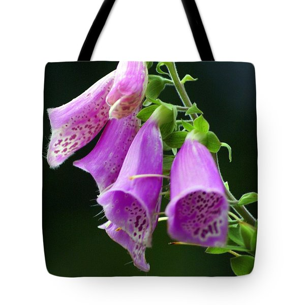 Purple Bells Horizontal Tote Bag by Marty Koch