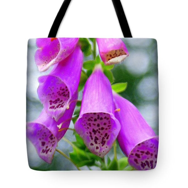 Purple Bells Tote Bag by Marty Koch
