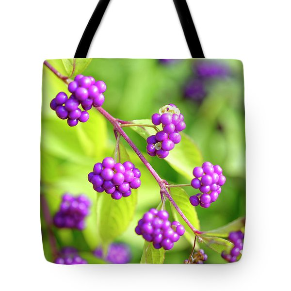 Purple Berries Tote Bag