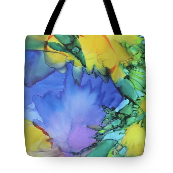 Purple Bird Of Paradise Tote Bag