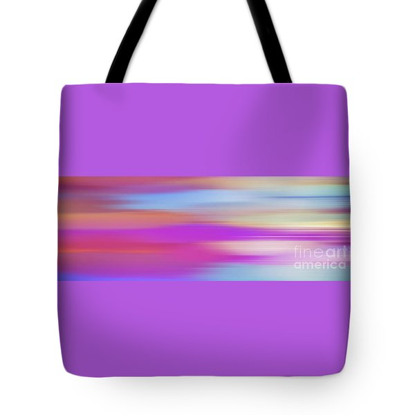 Tote Bag featuring the digital art Purple Bliss Sunrise Panorama By Kaye Menner by Kaye Menner