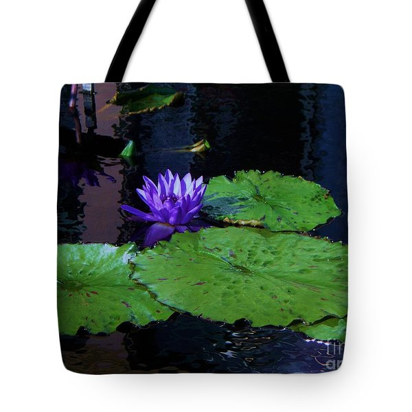 Purple Blue  Lily Tote Bag by Eric  Schiabor