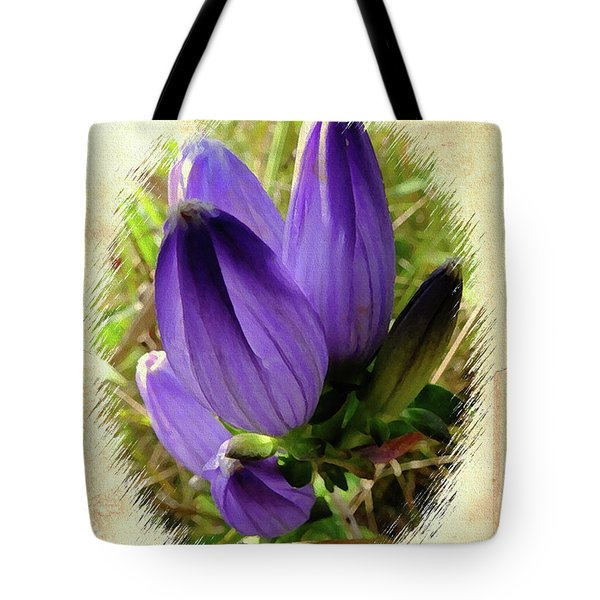 Bottle Gentian Tote Bag