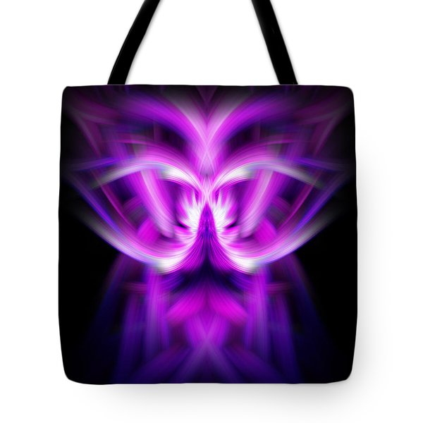 Purple Bug Tote Bag by Cherie Duran