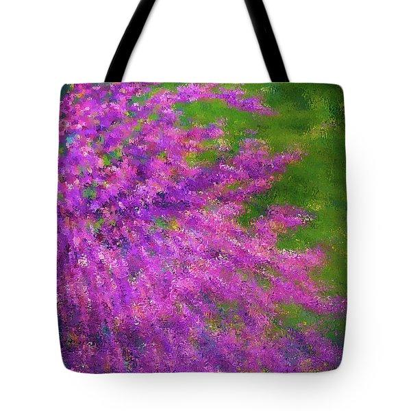 Purple Bush Tote Bag