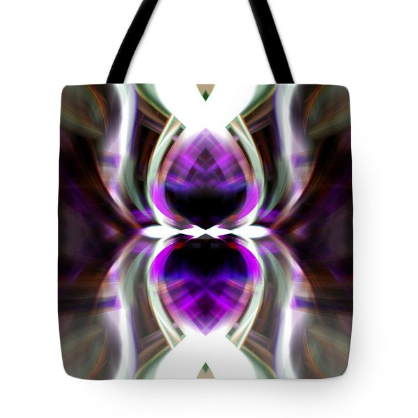 Purple Butterfly Tote Bag by Cherie Duran