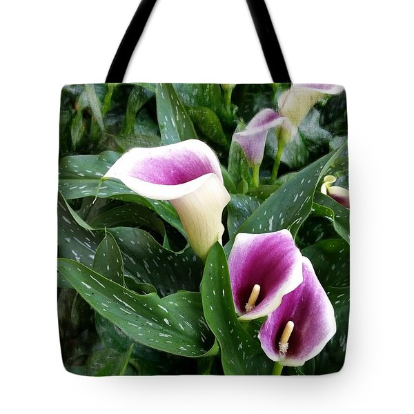 Purple Calla Lily Tote Bag