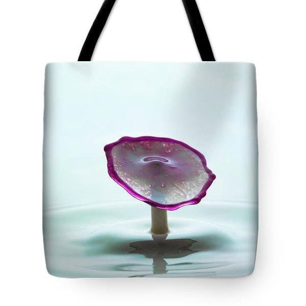 Purple Capped Drop Tote Bag