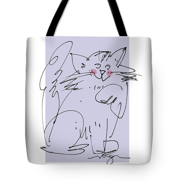 Purple Cat Tote Bag