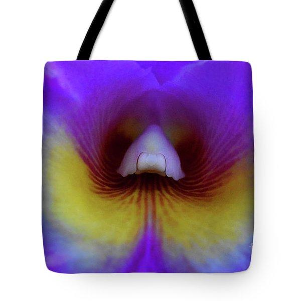 Purple Cattleya Orchid Detail Tote Bag