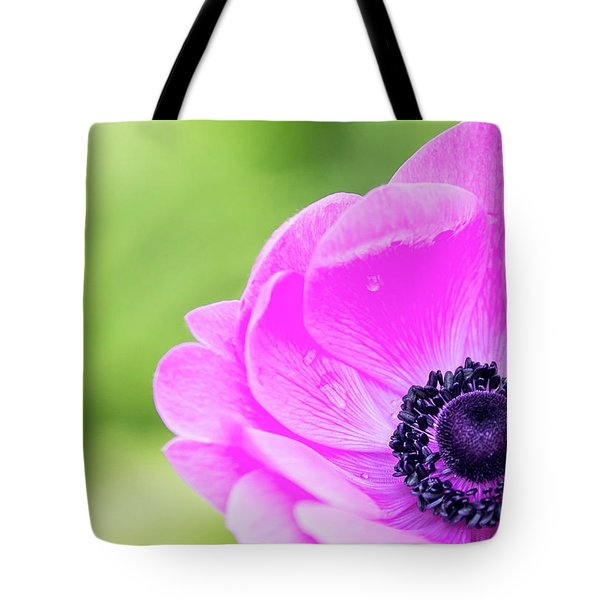 Tote Bag featuring the photograph Purple Center by Rebecca Cozart