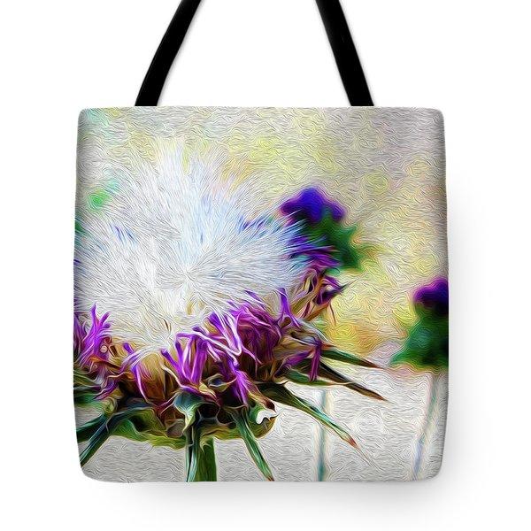 Purple Chaparral  Tote Bag