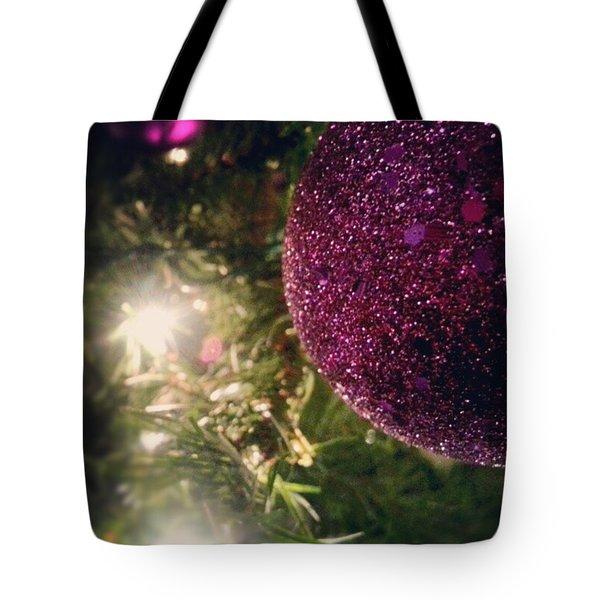 Purple Christmas Tote Bag