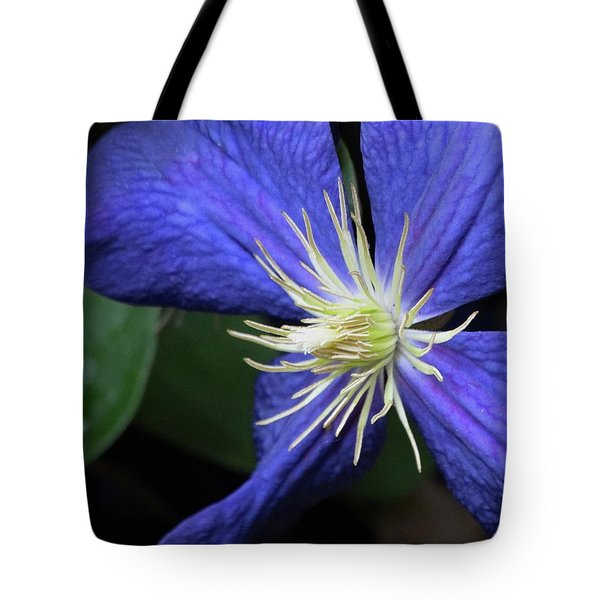 Purple Clematis Tote Bag by Rebecca Overton
