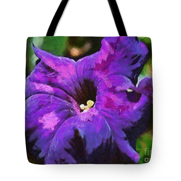 Tote Bag featuring the painting Purple Color Of Royalty by Dragica  Micki Fortuna