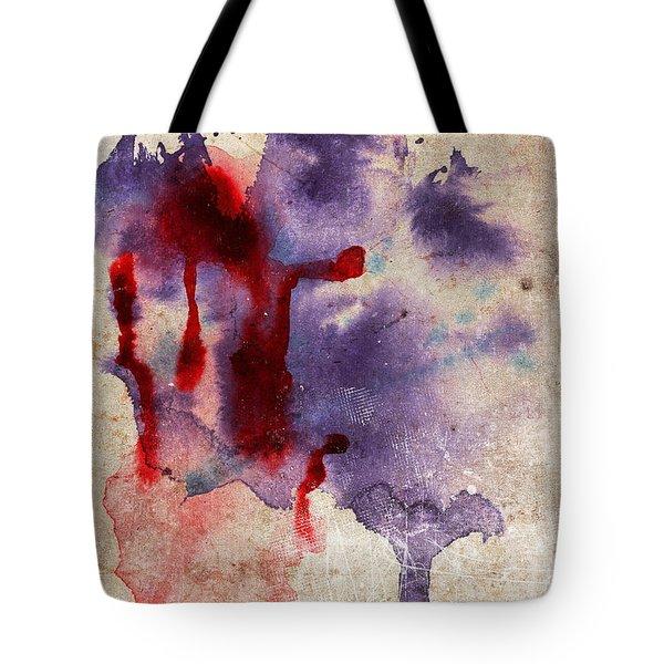 Purple Color Splash Tote Bag