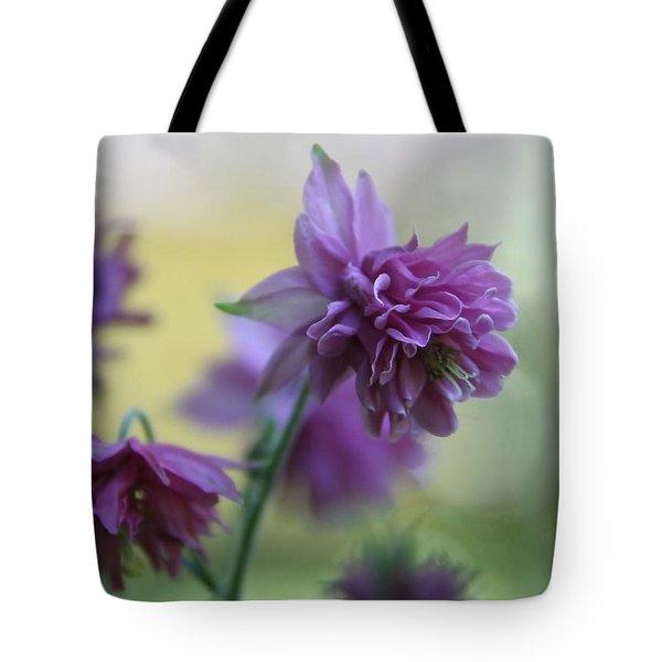 Purple Columbine Tote Bag by  Andrea Lazar