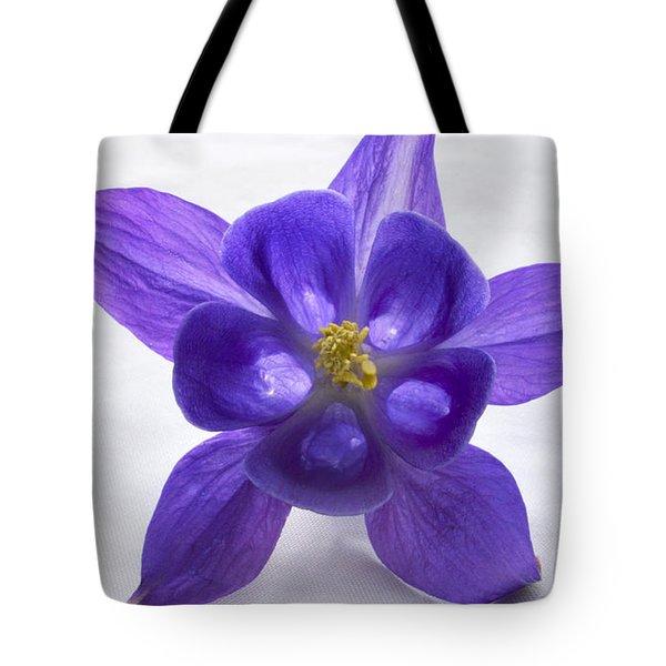 Purple Columbine Tote Bag by Terence Davis