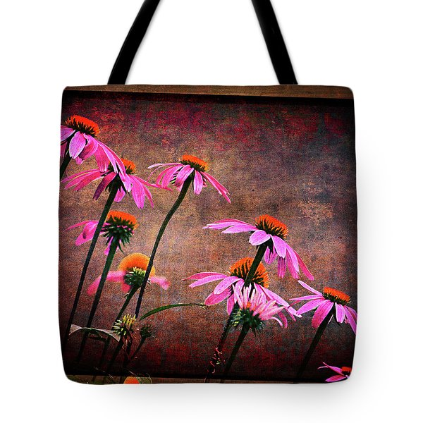 Purple Coneflowers Out Of Alignment  Tote Bag
