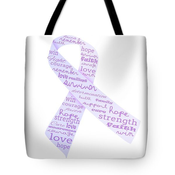 Purple Courage Tote Bag