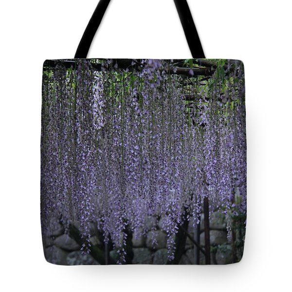 Tote Bag featuring the photograph Purple Curtain  by Yumi Johnson