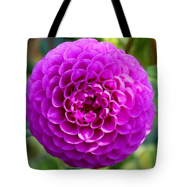 Purple Dahlia Tote Bag
