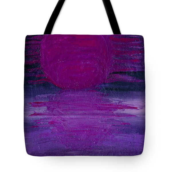 Tote Bag featuring the painting Purple Dawn by Ania M Milo