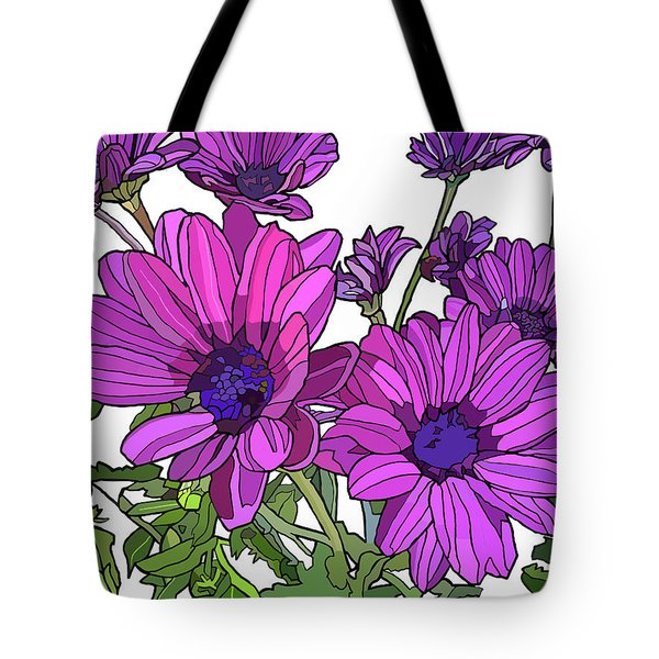 Purple Days Tote Bag by Jamie Downs
