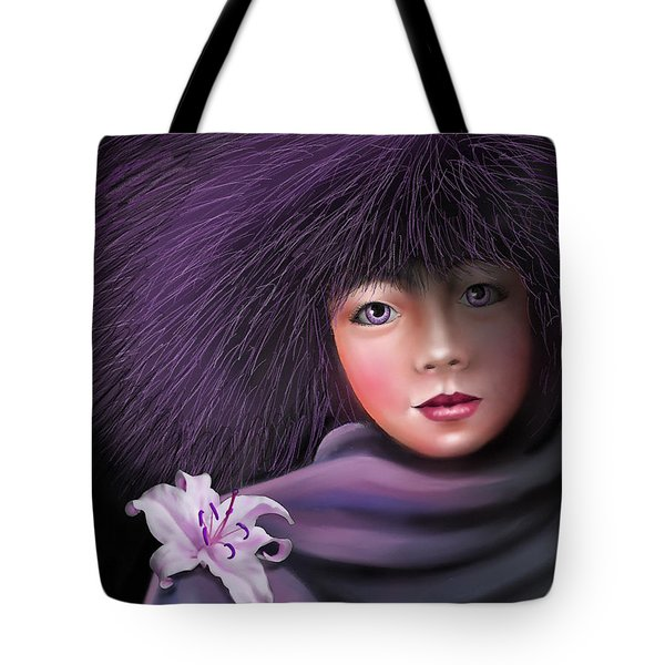 Tote Bag featuring the painting Purple Delight by S G
