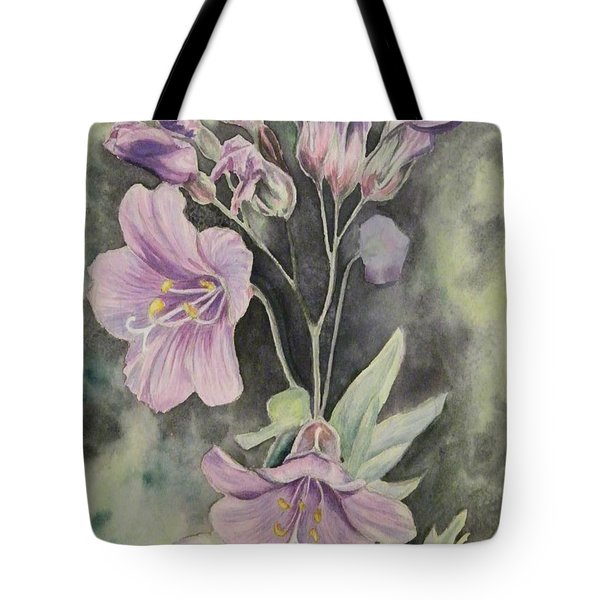 Purple Delight Wildflowers Tote Bag