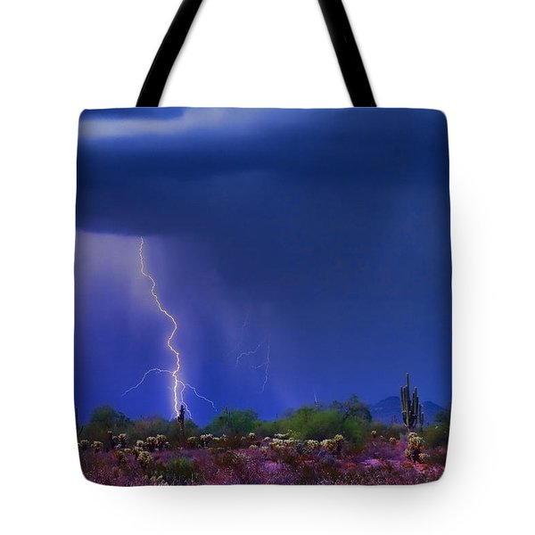 Purple Desert Storm Tote Bag by James BO  Insogna