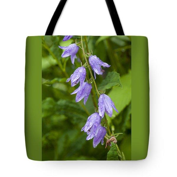 Purple Dew Drops Tote Bag